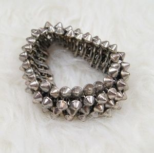Hot Topic | Silver & Spiked Bracelet